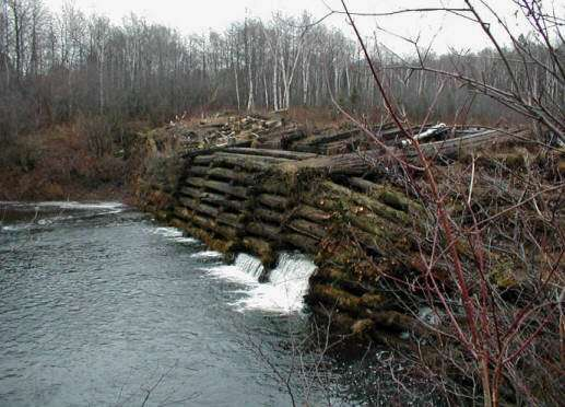 how to build wooden dam on small stream